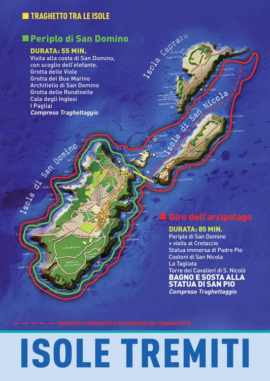 Cartina Geografica Delle Isole Tremiti.Mappa Delle Isole Tremiti Mappa Tremiti Gargano Italia Escursioni